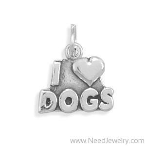 I Love Dogs Charm-Charms-Needjewelry.com