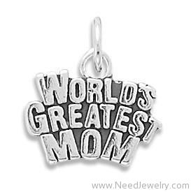 World's Greatest Mom Charm-Charms-Needjewelry.com