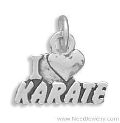 I Love Karate Charm-Charms-Needjewelry.com