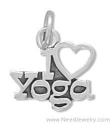 I Love Yoga Charm-Charms-Needjewelry.com