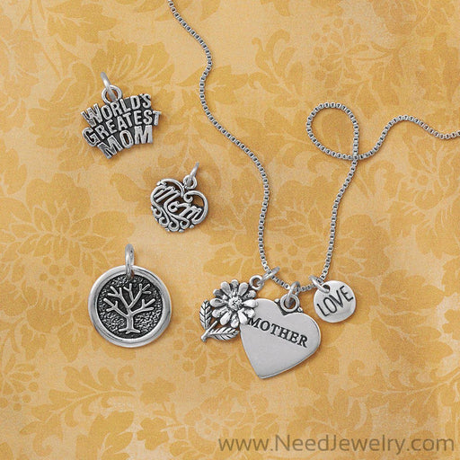 Mom Heart Charm-Charms-Needjewelry.com