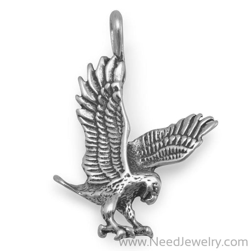 Oxidized Landing Eagle Charm-Charms-Needjewelry.com