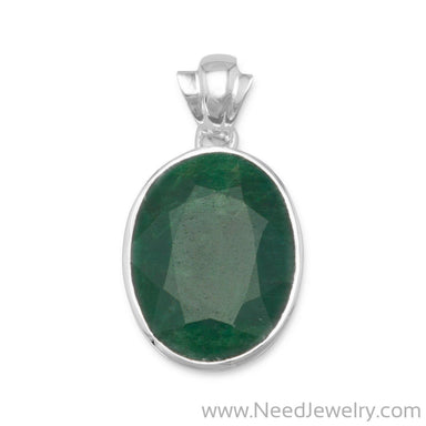 Oval Faceted Beryl Pendant-Pendants-Needjewelry.com