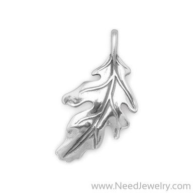 Oak Leaf Slide-Pendants-Needjewelry.com