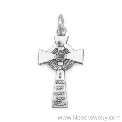 23rd Psalm Cross Charm-Charms-Needjewelry.com
