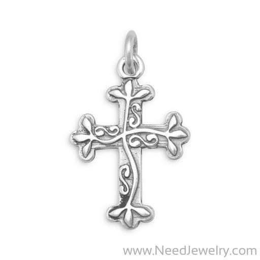 Oxidized Reversible Cross Charm-Charms-Needjewelry.com