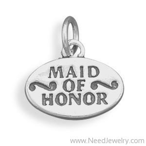 Maid of Honor Charm-Charms-Needjewelry.com
