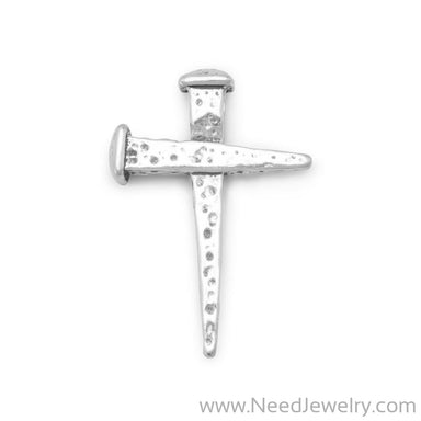 Oxidized Cross of Nails Slide-Pendants-Needjewelry.com