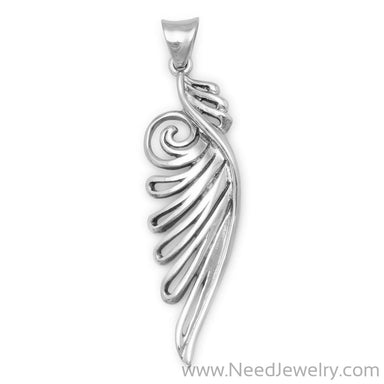 Ornate Angel Wing Pendant-Pendants-Needjewelry.com