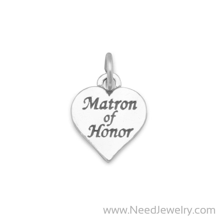 Oxidized Matron of Honor Charm-Charms-Needjewelry.com
