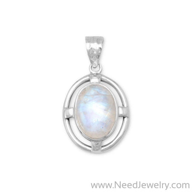Rainbow Moonstone Pendant-Pendants-Needjewelry.com