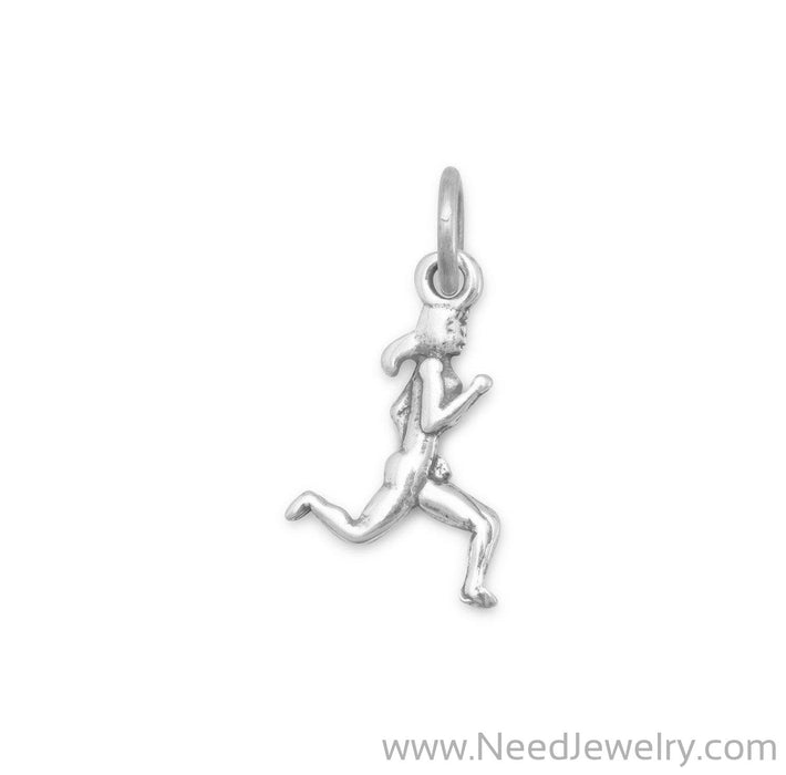 Oxidized Female Runner Charm-Charms-Needjewelry.com