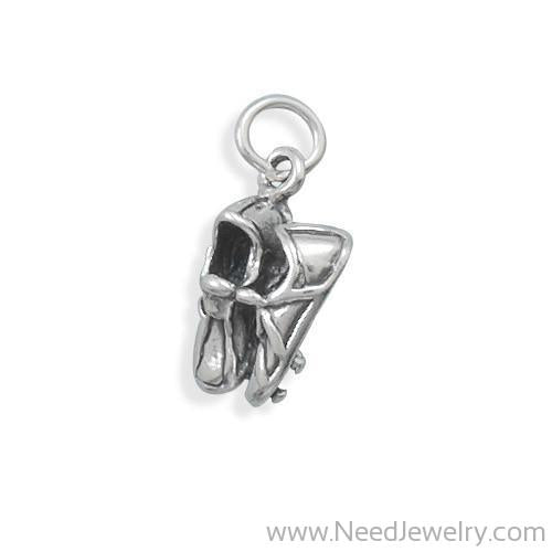 Oxidized Track Shoes Charm-Charms-Needjewelry.com
