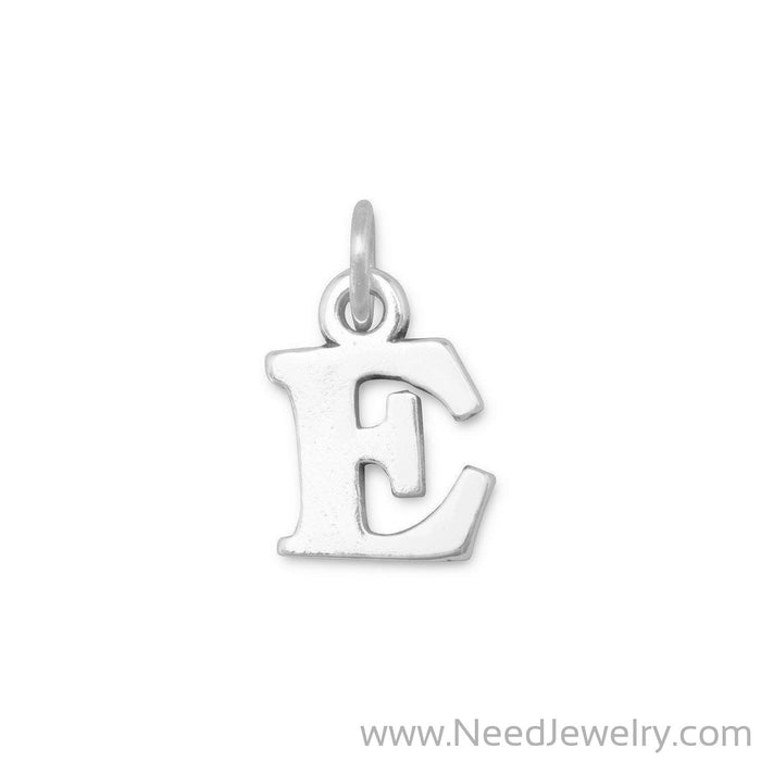 "Oxidized ""E"" Charm-Charms-Needjewelry.com"