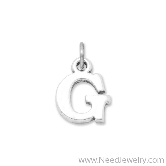"Oxidized ""G"" Charm-Charms-Needjewelry.com"