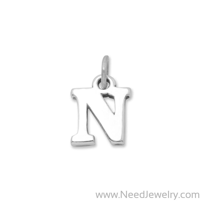 "Oxidized ""N"" Charm-Charms-Needjewelry.com"