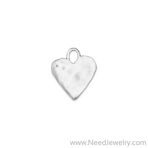 74072-Oxidized Heart Pendant-Charms-Needjewelry.com