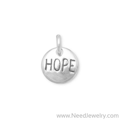"Oxidized ""Hope"" Charm-Charms-Needjewelry.com"