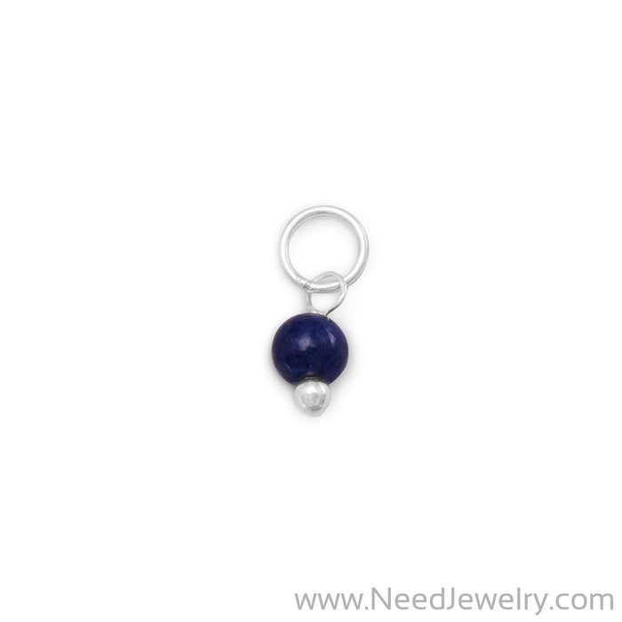 Corundum Bead Charm - September Birthstone-Charms-Needjewelry.com