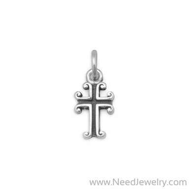 Oxidized Cross Charm-Charms-Needjewelry.com