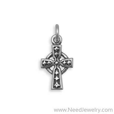 Oxidized Celtic Cross Charm-Charms-Needjewelry.com