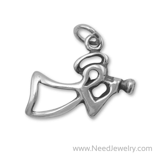 Oxidized Angel Charm-Charms-Needjewelry.com
