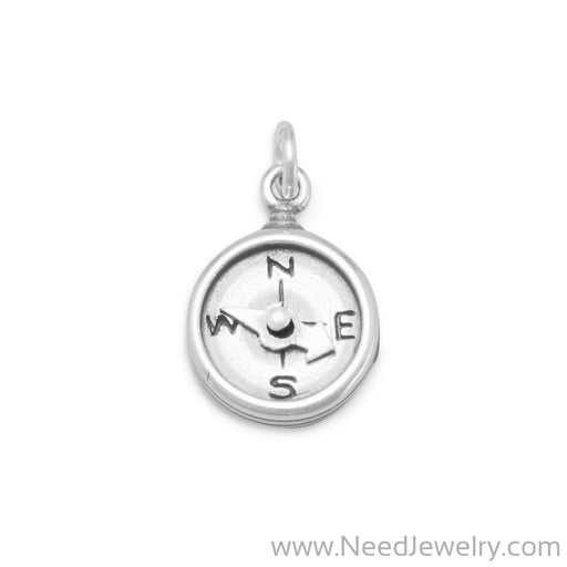 Oxidized Compass Charm-Charms-Needjewelry.com