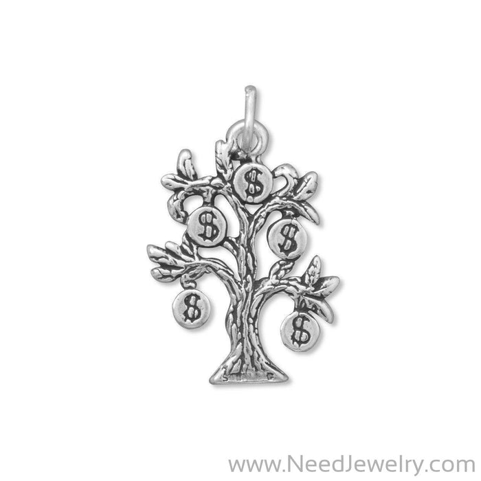 Oxidized Money Tree Charm-Charms-Needjewelry.com