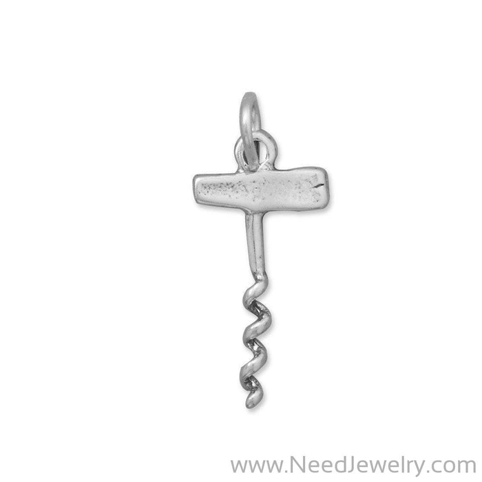 Oxidized Corkscrew Charm-Charms-Needjewelry.com