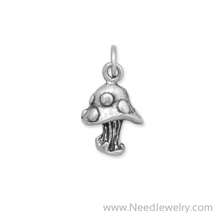Oxidized Mushroom Charm-Charms-Needjewelry.com