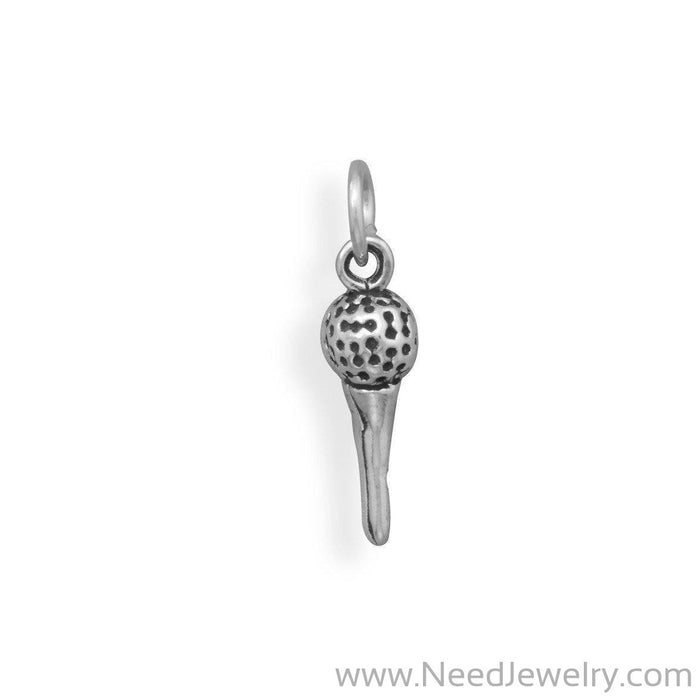 Golf Ball on Tee Charm-Charms-Needjewelry.com