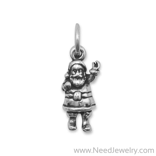 Oxidized Santa Claus Charm-Charms-Needjewelry.com