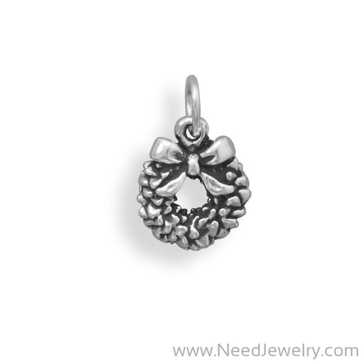 Oxidized Wreath Charm-Charms-Needjewelry.com