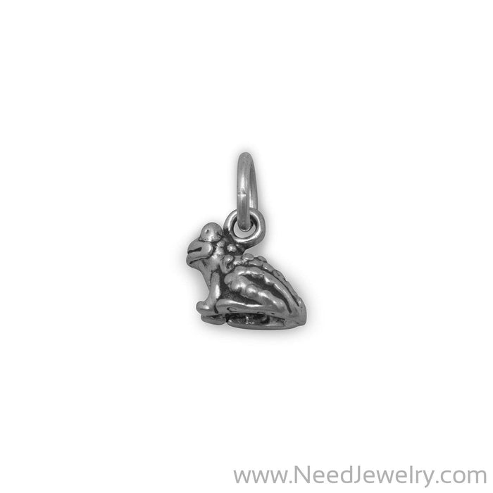 Oxidized Toad Charm-Charms-Needjewelry.com
