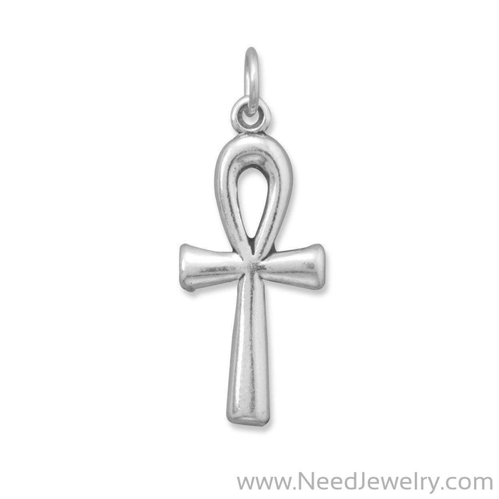 Oxidized Ankh Charm-Charms-Needjewelry.com
