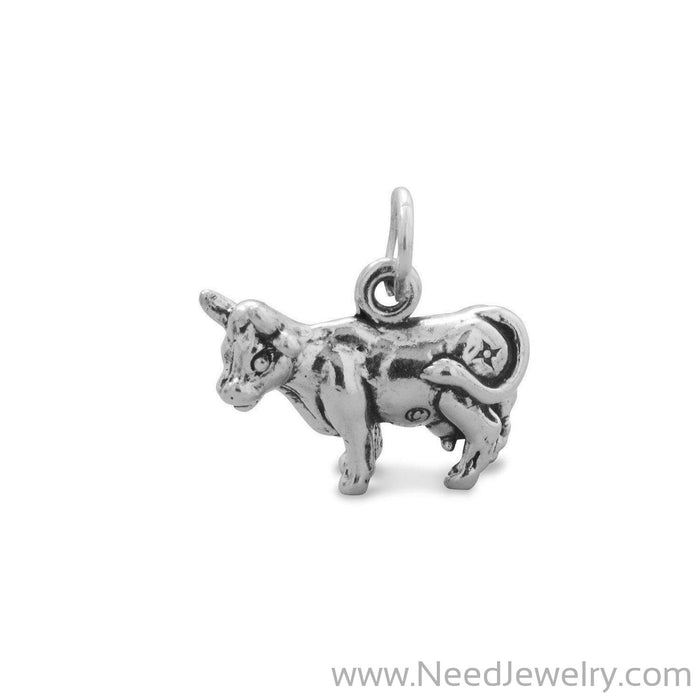 Oxidized Cow Charm-Charms-Needjewelry.com