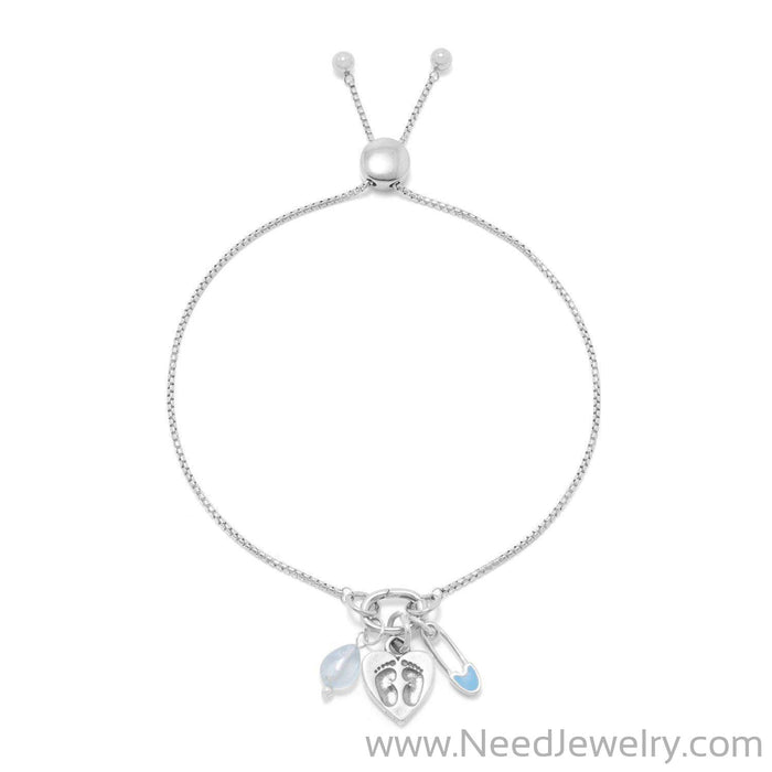 Rhodium Plated Adapter Component-Necklaces-Needjewelry.com