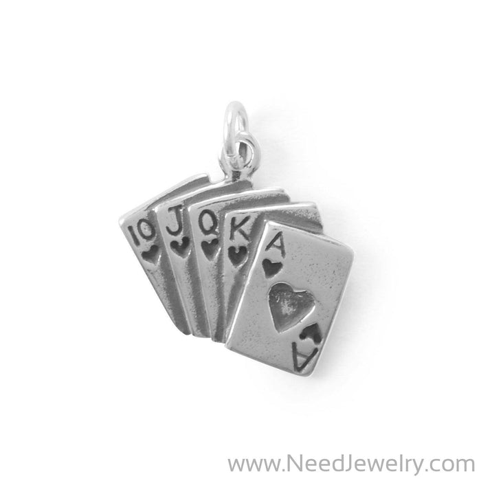Winner Takes All! Royal Flush Cards Charm-Charms-Needjewelry.com
