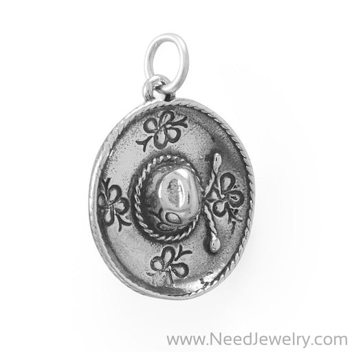 Fiesta! Decorated Sombrero Charm-Charms-Needjewelry.com