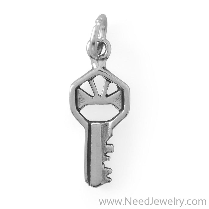 You Hold The Key! Oxidized Charm-Charms-Needjewelry.com