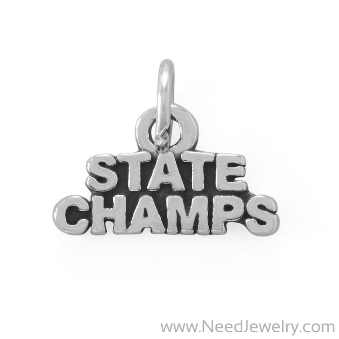 Go Team! Oxidized State Champs Charm-Charms-Needjewelry.com