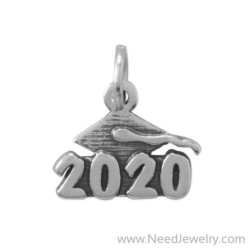 "Oxidized ""2020"" Graduation Charm-Charms-Needjewelry.com"