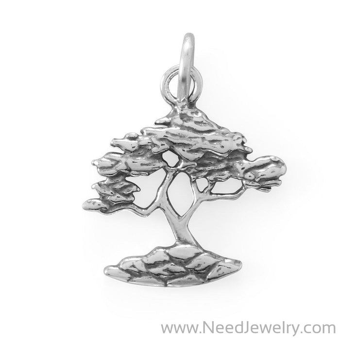Oxidized Cypress Tree Charm-Charms-Needjewelry.com