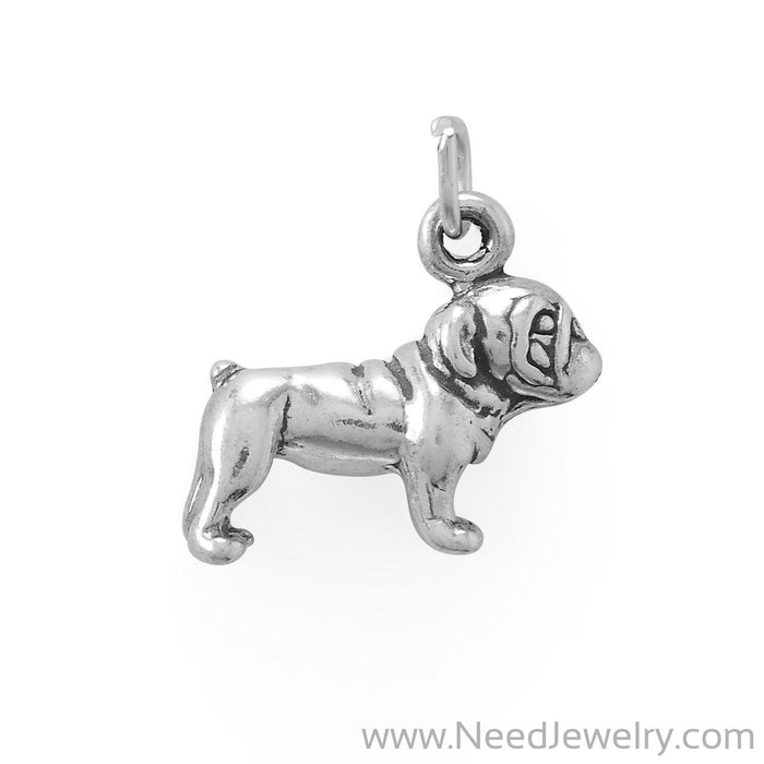 Paw-sitively Adorable - Bulldog Charm-Charms-Needjewelry.com