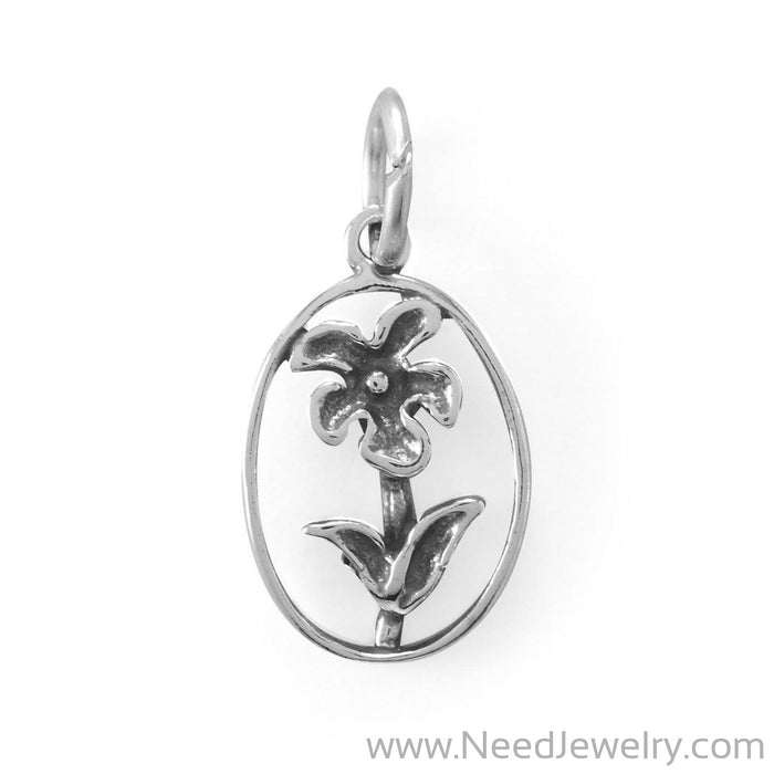 Flower Portrait Charm-Charms-Needjewelry.com