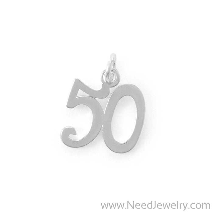 "Fifty Rocks! ""50"" Charm-Charms-Needjewelry.com"