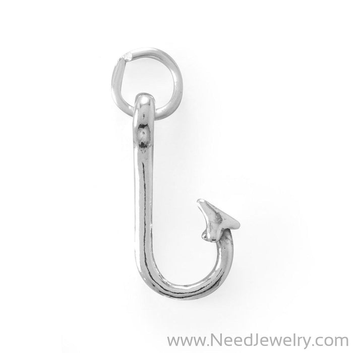 Oxidized Hook Charm-Charms-Needjewelry.com