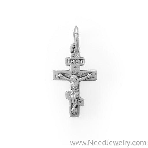 Small Matte Finish Crucifix Charm-Charms-Needjewelry.com