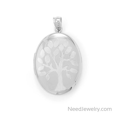 Item # [sku} - Oval Family Tree Memory Keeper Locket on NeedJewelry.com