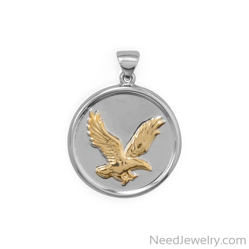 Item # [sku} - Two Tone Eagle Pendant on NeedJewelry.com